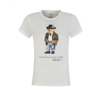 White Cowboy Polo Bear T-Shirt