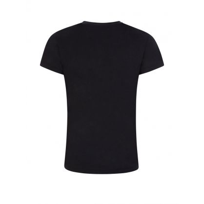 Black Beaded Logo T-Shirt