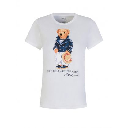 White Polo Bear Jersey T-Shirt