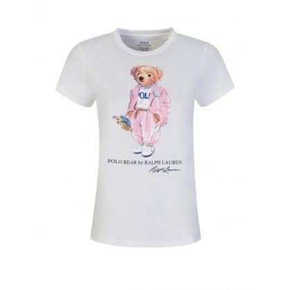 White Picnic Polo Bear T-Shirt