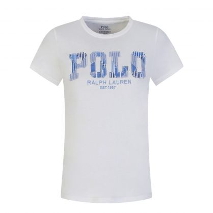 White Patchwork Logo T-Shirt