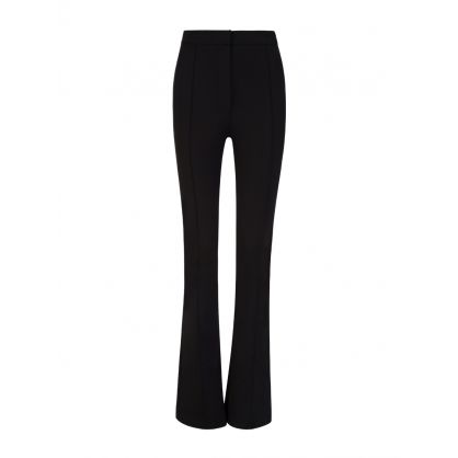 Black Flared Slim Fit Trousers