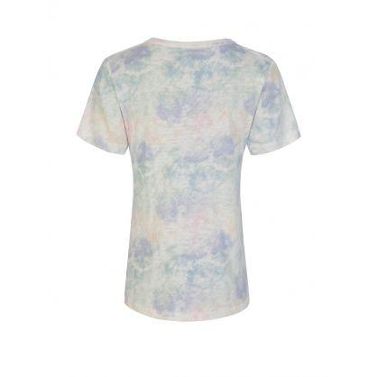 Multicolour The Cara Rainbow Tie-Dye V-Neck T-Shirt