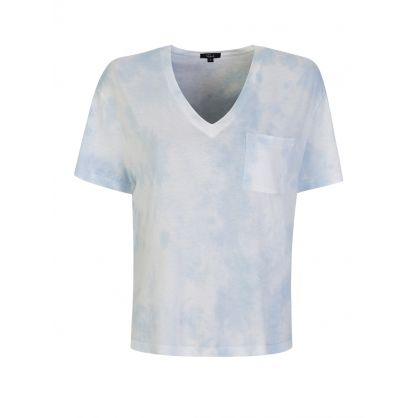 Light Blue The Pocket V Tie-Dye T-Shirt