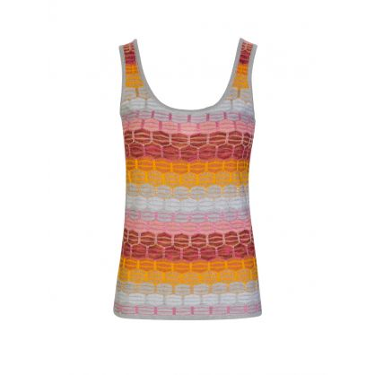 Silver/Red Stripe Tank Top