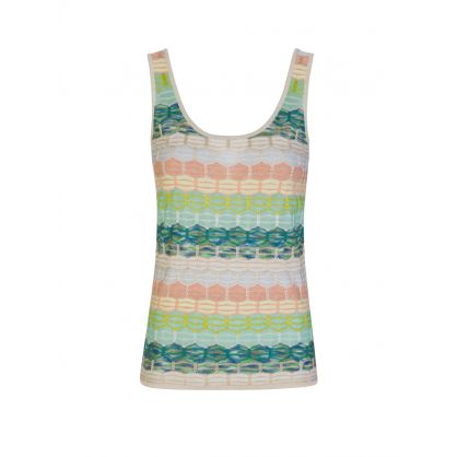 White/Green Stripe Tank Top