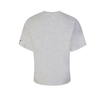 Grey Cropped Logo T-Shirt