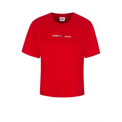 Red Logo Cropped T-Shirt