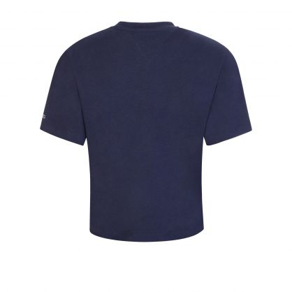 Navy Boxy-Fit Cropped T-Shirt