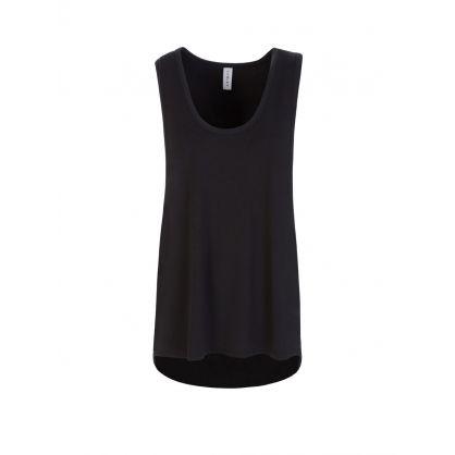 Black Elenda Vest Top