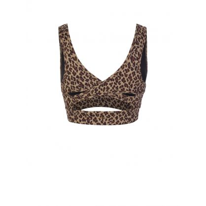 Brown Animal Print Watson Sports Bra