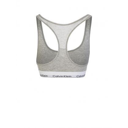 Grey Modern Cotton Bralette