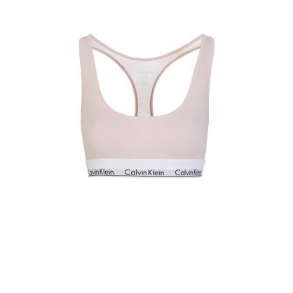 Pink Modern Cotton Bralette
