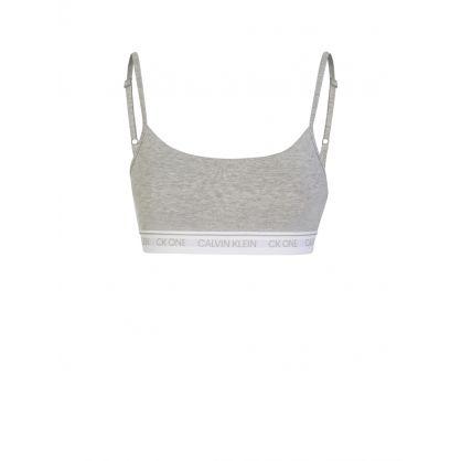 Grey CK One String Bralette