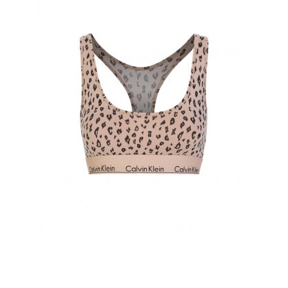 Brown Animal Print Modern Cotton Bralette