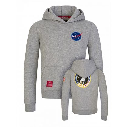 Kids Grey NASA 100th Space Shuttle Logo Hoodie