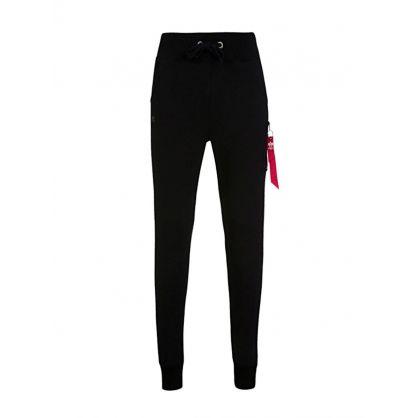 Black X-Fit Cargo Slim-Fit Sweatpants