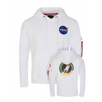 White NASA Space Shuttle Hoodie