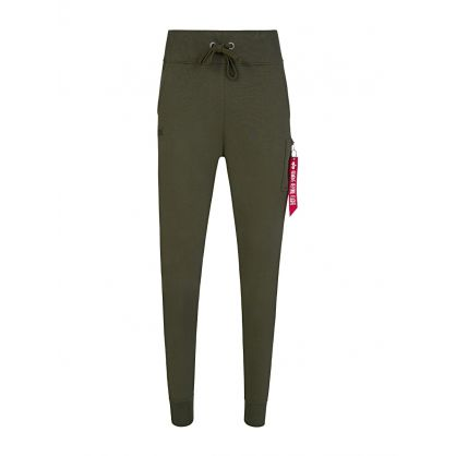 Green Slim X-Fit Cargo Sweatpants