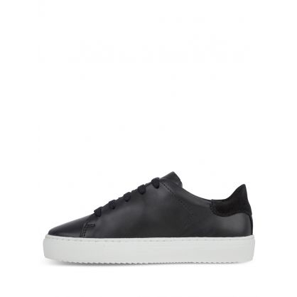 Kids Collection Black Leather Clean 90 Trainers