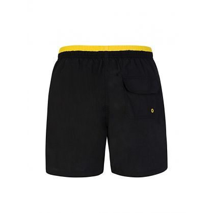 Black Tailored-Fit Swim Shorts