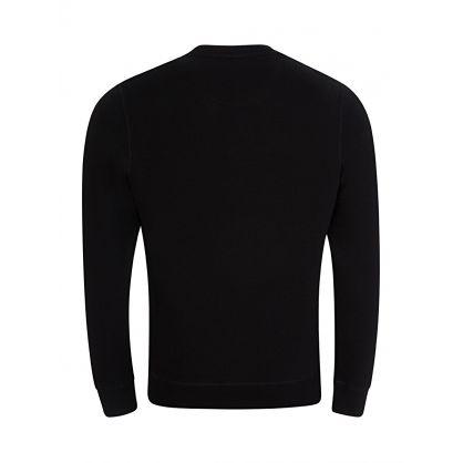 Black Large Logo Print Sweatshirt