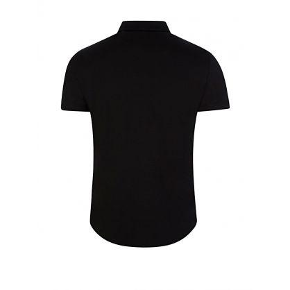 Black Short-Sleeve Jersey Shirt