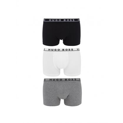Black Cotton Bodywear Stretch Boxer Shorts 3-Pack