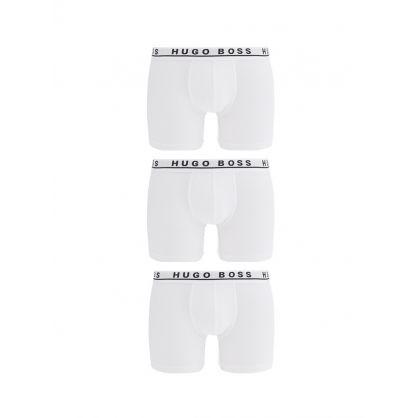 White Boxer Shorts 3-Pack
