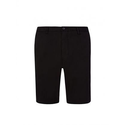 Black Logo Slice Shorts