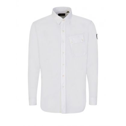 White Cotton Pitch Twill Shirt
