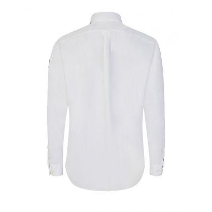 White Cotton Pitch Twill Shirt