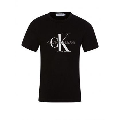 Black Monogram Logo T-Shirt