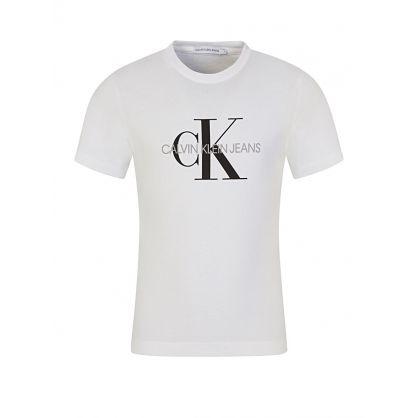 White Monogram Logo T-Shirt