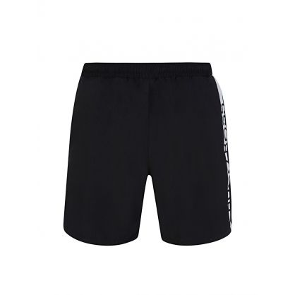 Black Contrast Dolphin Swim Shorts