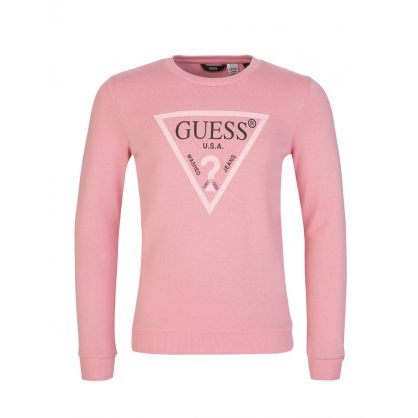 Kids Pink Active Sweatshirt