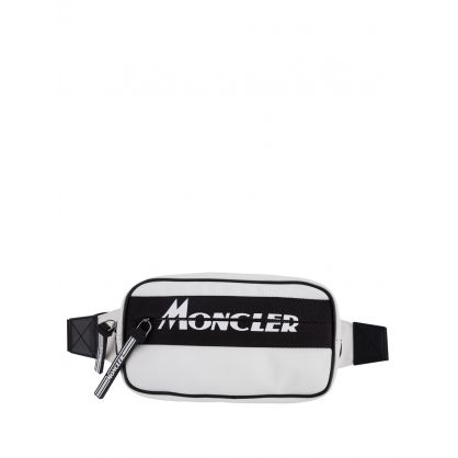 White Aude Logo Waist Bag