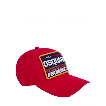 Red Canadian Iconography Plate Logo Cap