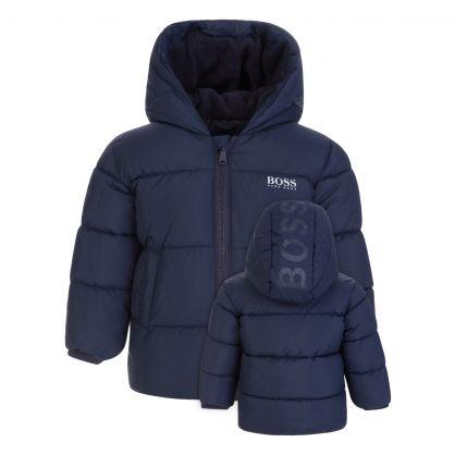 Navy Essential Puffer Jacket