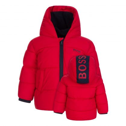 Red Essential Puffer Jacket