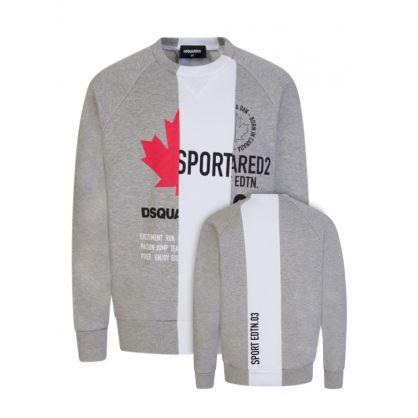 Kids Grey Sport Edtn. Stripe Sweatshirt