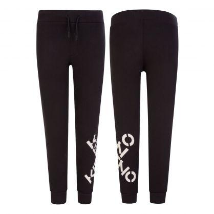 Black X Logo Sweatpants