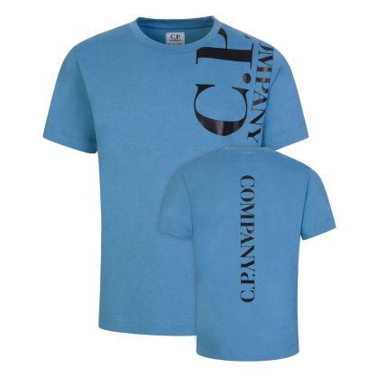 Blue Vertical Logo T-Shirt