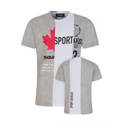 Kids Grey Sport Edtn. Stripe T-Shirt