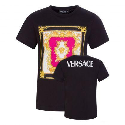 Black Junior Medusa Renaissance Print T-Shirt