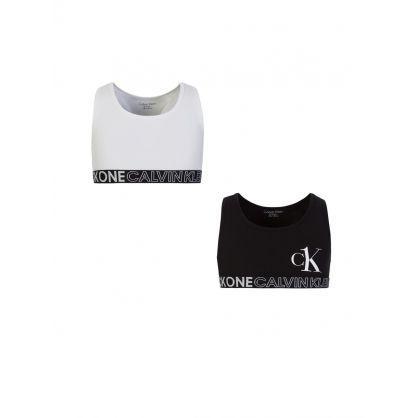 CK One Kids White/Black 2Pk Bralette