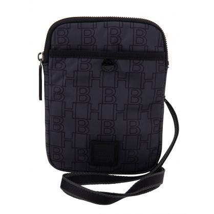 Charcoal Nylon Pixel Mini Bag