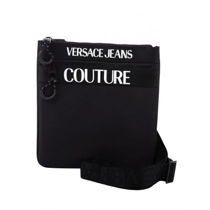 Black Logo Crossbody Bag