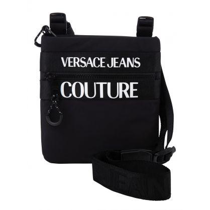 Black Logo Shoulder Bag