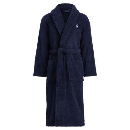 Navy Kimono Dressing Gown